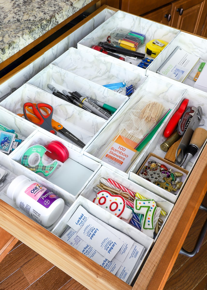 Drawer Organizers with Cardboard Boxes