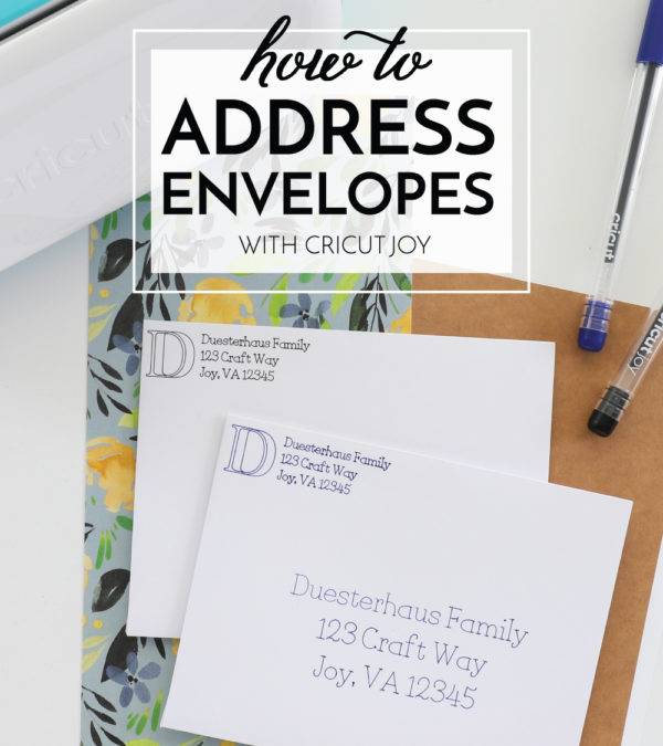 How to Address Envelopes with Cricut