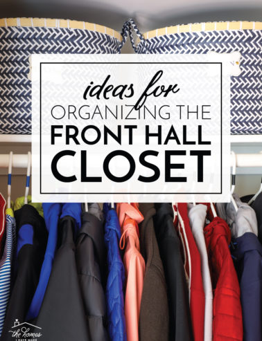 Organizing the Front Hall Closet