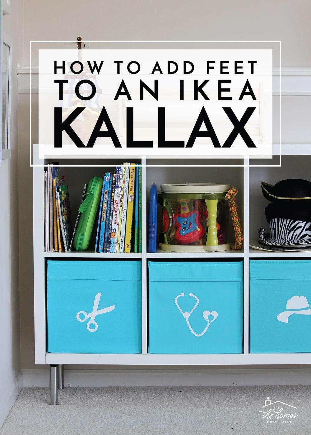How to Add Feet To Ikea Kallax