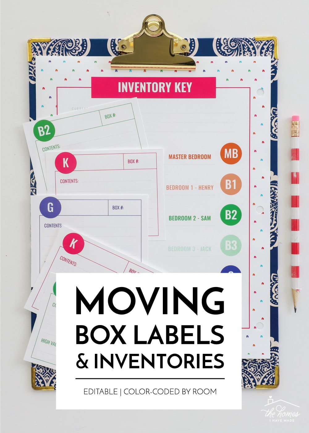 Printable Moving Box Labels