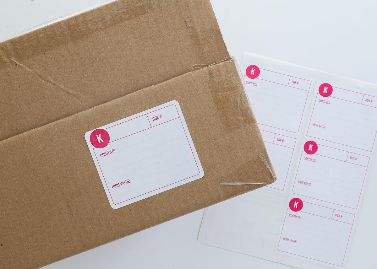 Printable Moving Box Labels