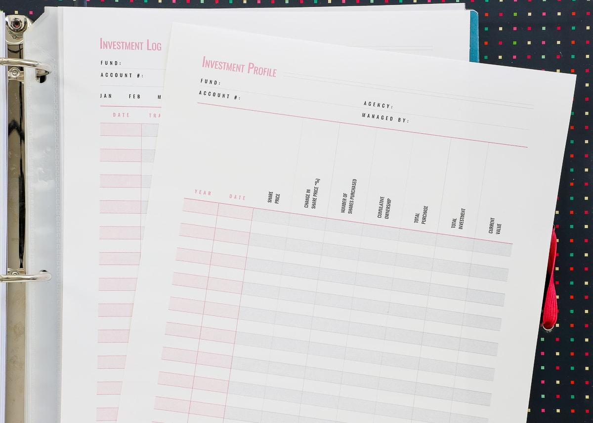 Budget & Finance Printables