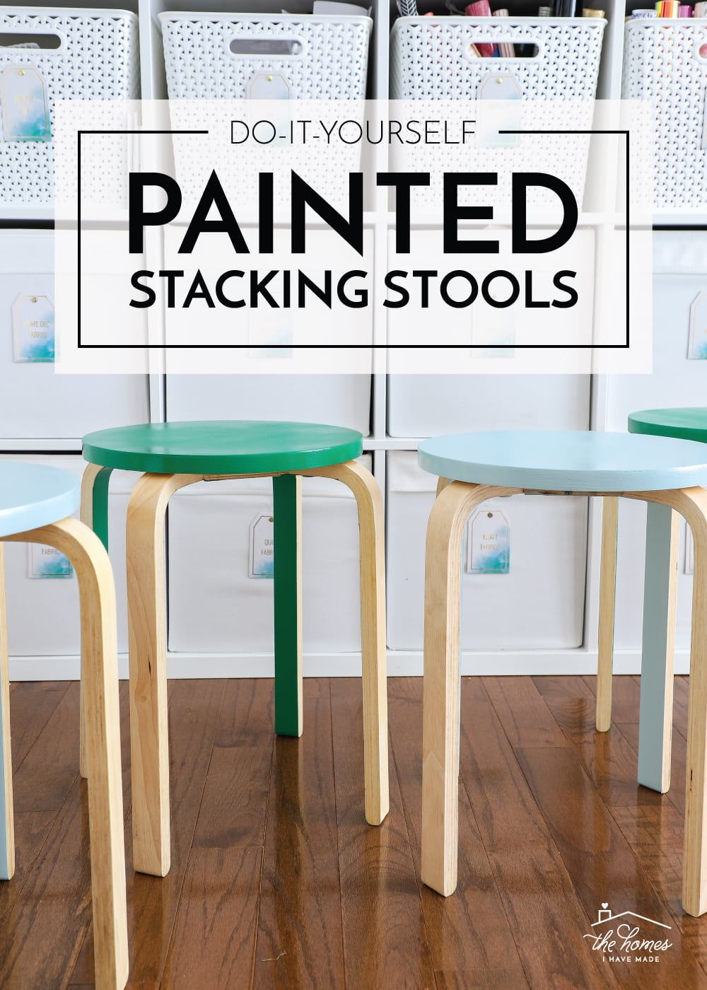 Painted Stacking Stools