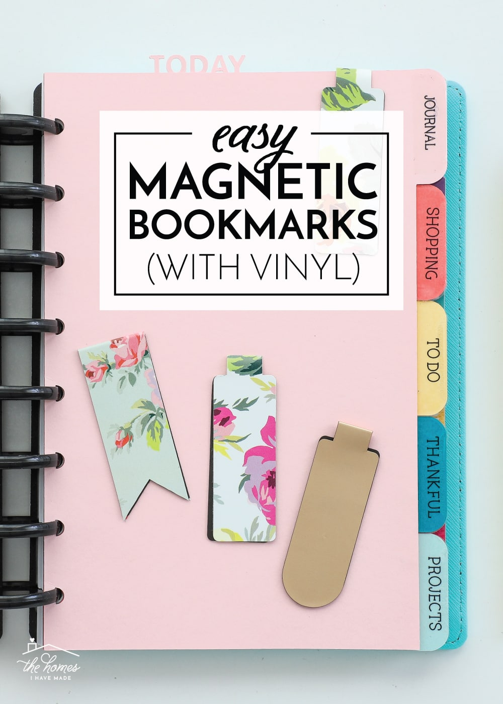 Magnetic Bookmarks with Vinyl