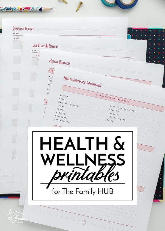Health and Wellness Printables