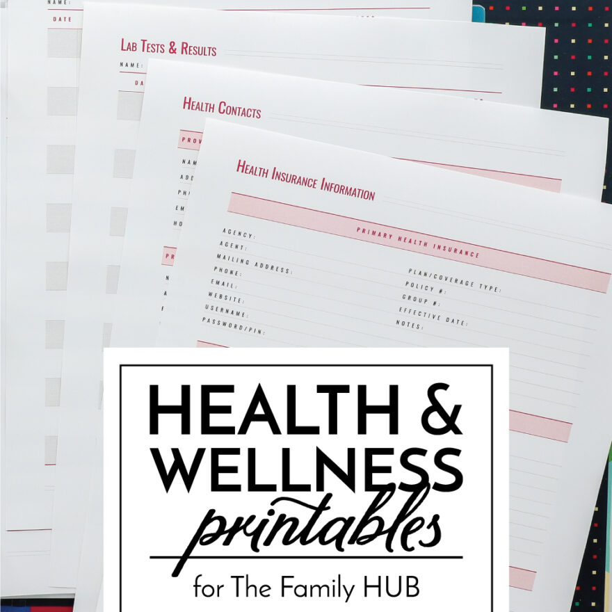 Health And Wellness Printables For The Family HUB