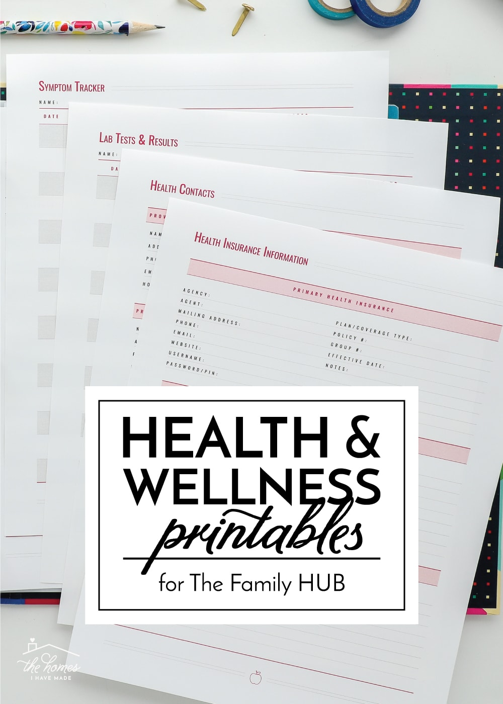Health and Wellness Printables
