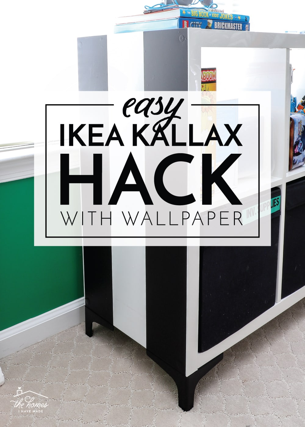IKEA Kallax Hack with Wallpaper 1