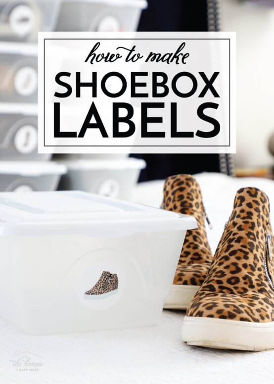 How To Make Shoebox Labels