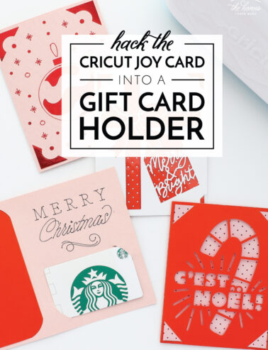 Cricut Joy Card Into a Gift Card Holder