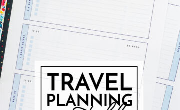 Travel Planning Printables