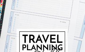 Travel Planning Printables