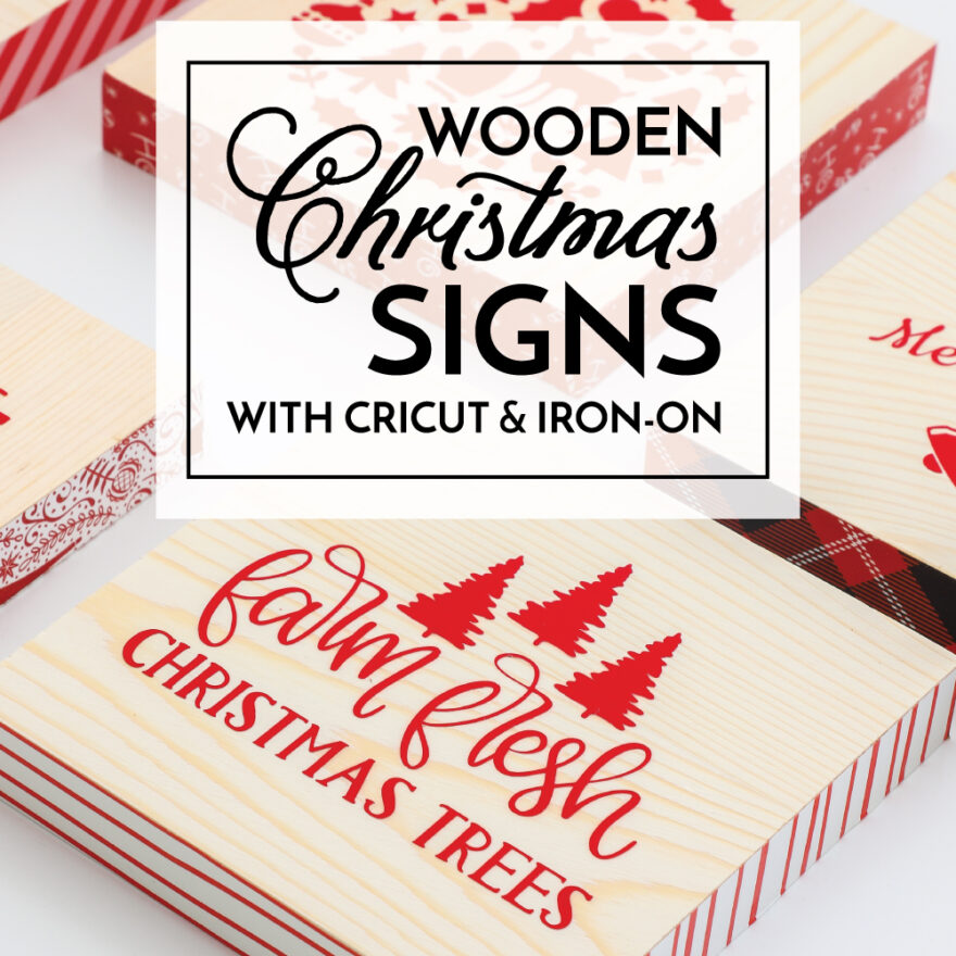 Wooden Christmas Signs with Cricut