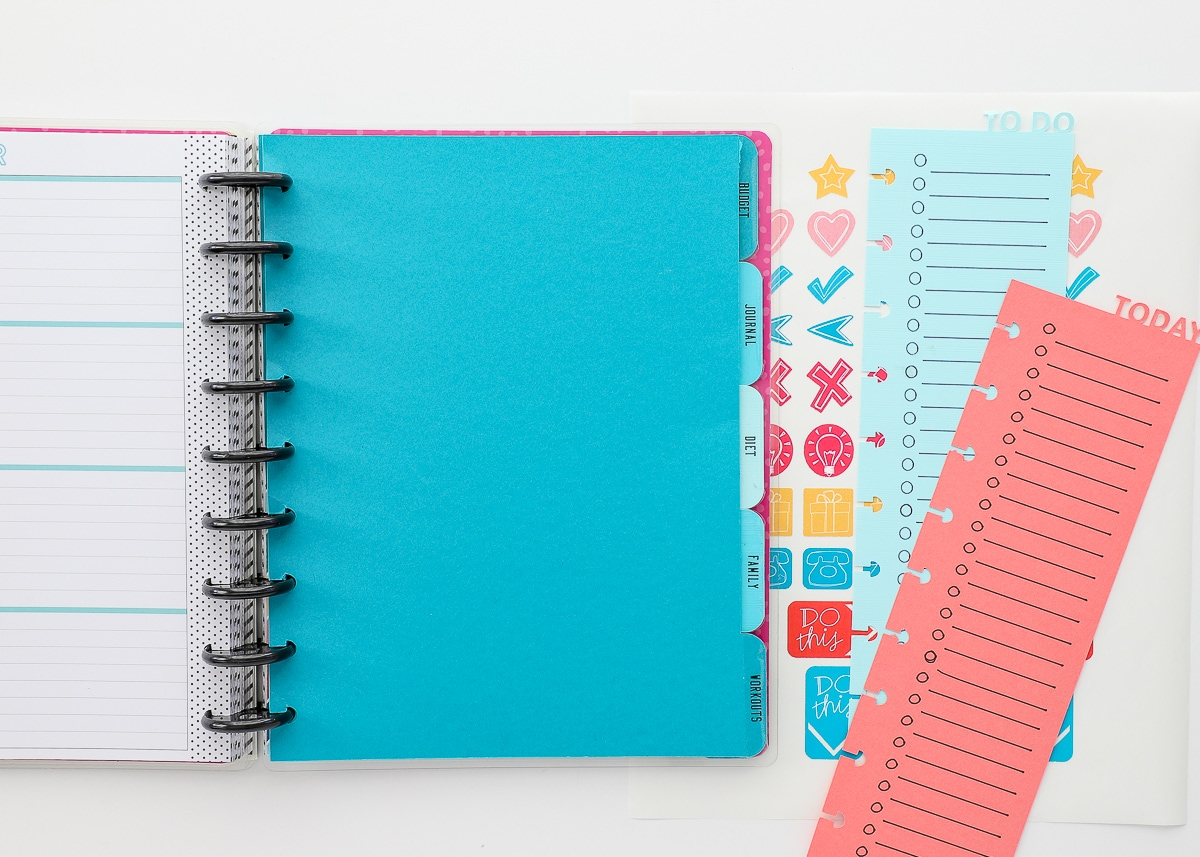 DIY Happy Planner Inserts with a Cricut
