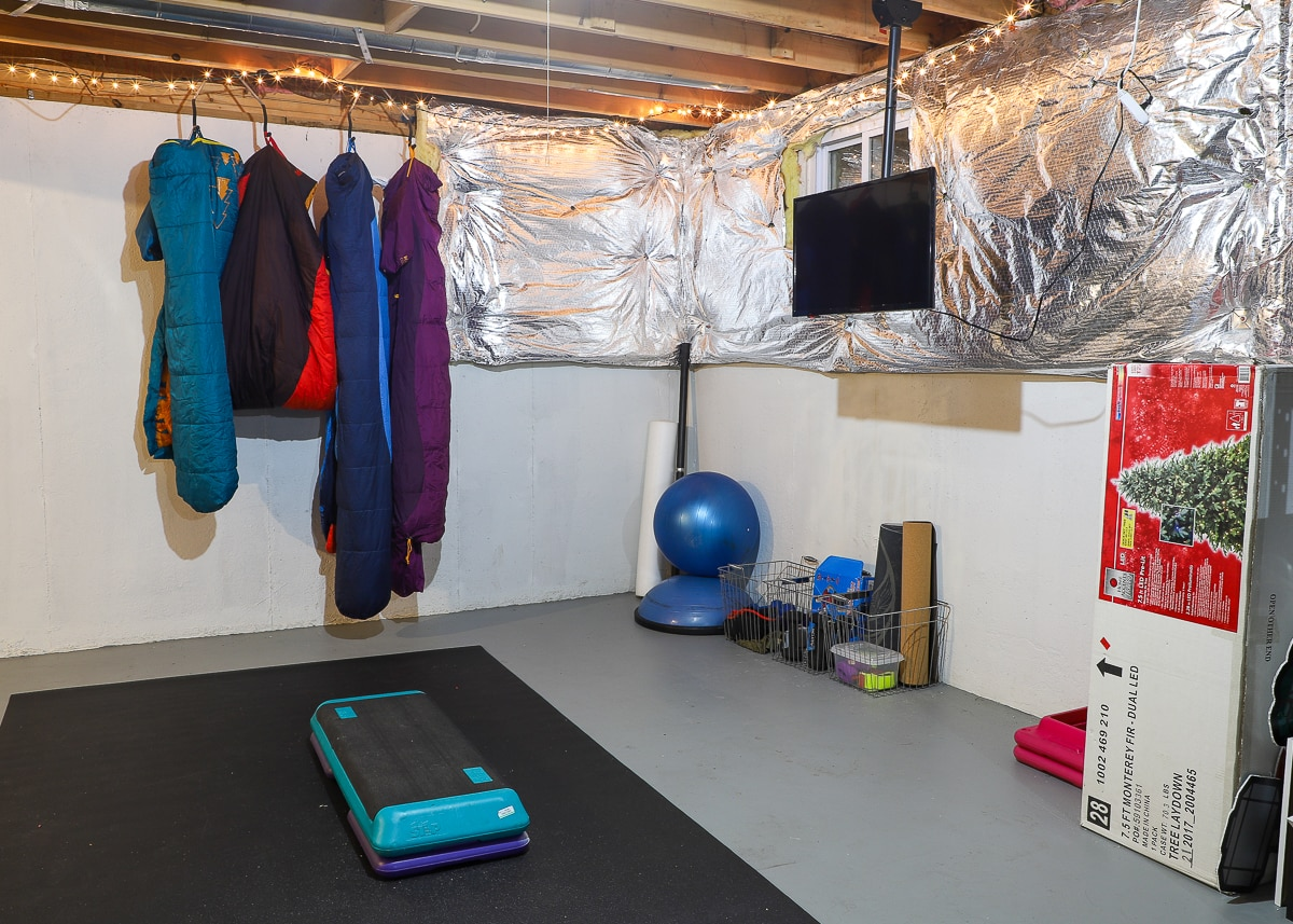 Home Gym In An Unfinished Basement