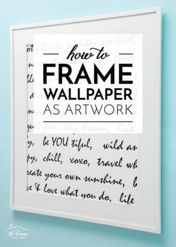 How to Frame Wallpaper As Artwork