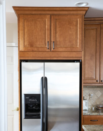 Cabinets Above the Refrigerator