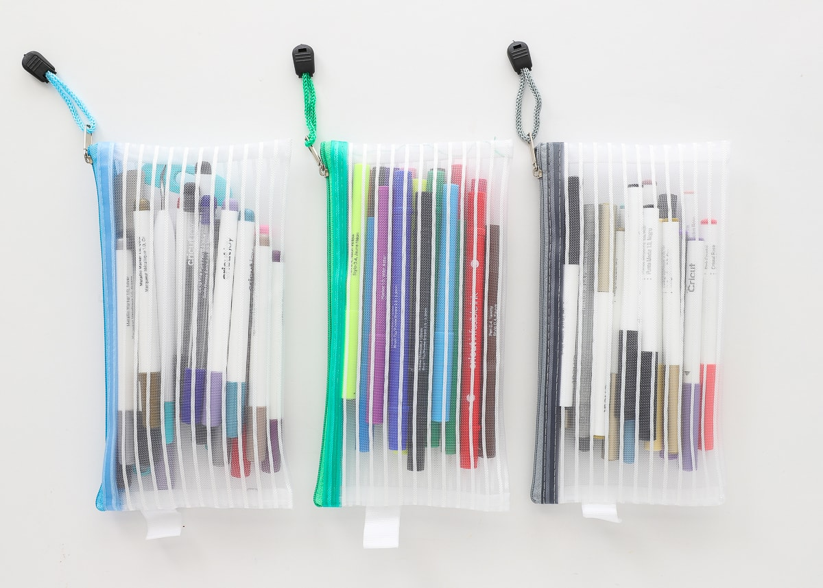 Organize with Zipper Pouches