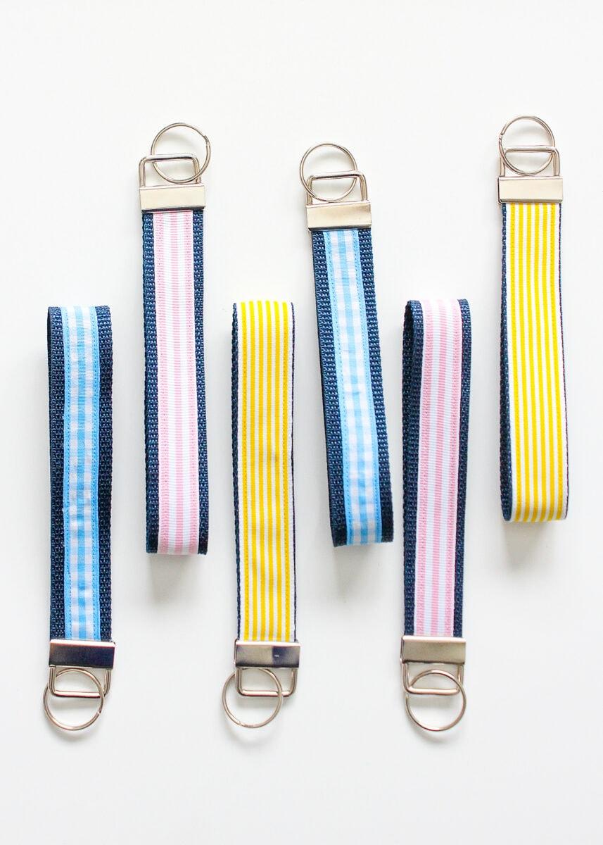 DIY Ribbon Key Fobs