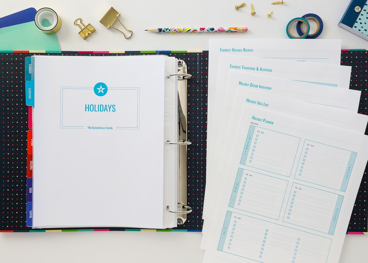 Holiday Planning Printables