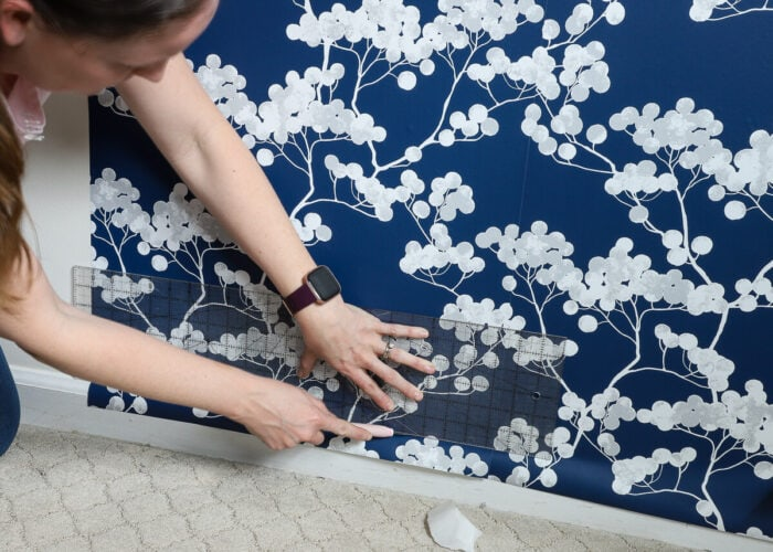 How to Hang Peel and Stick Wallpaper