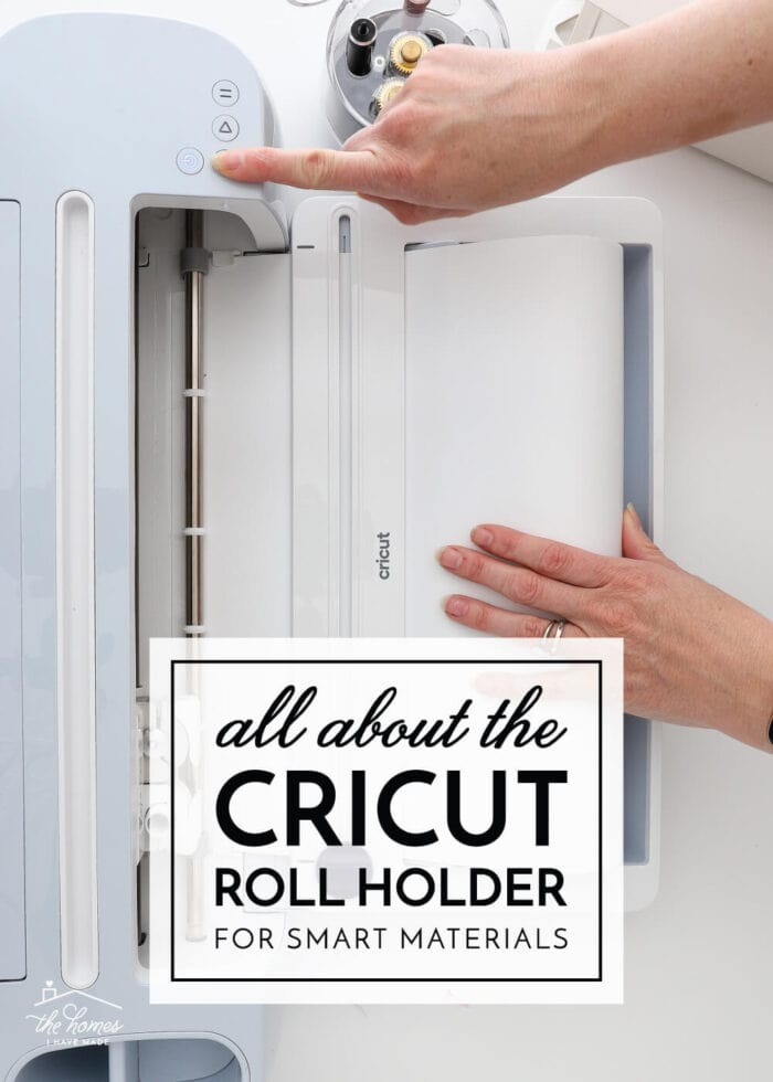 Overhead view of the Cricut Maker 3 with Roll Holder for Smart Materials