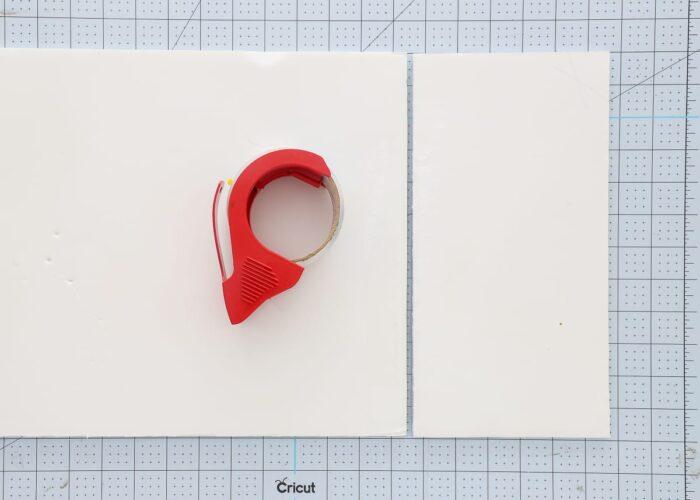 cut and tape foam board to create a custom window valance