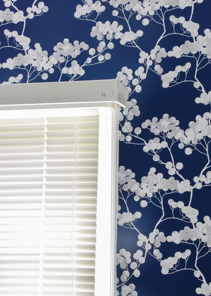 this simple window valance is hung onto brackets