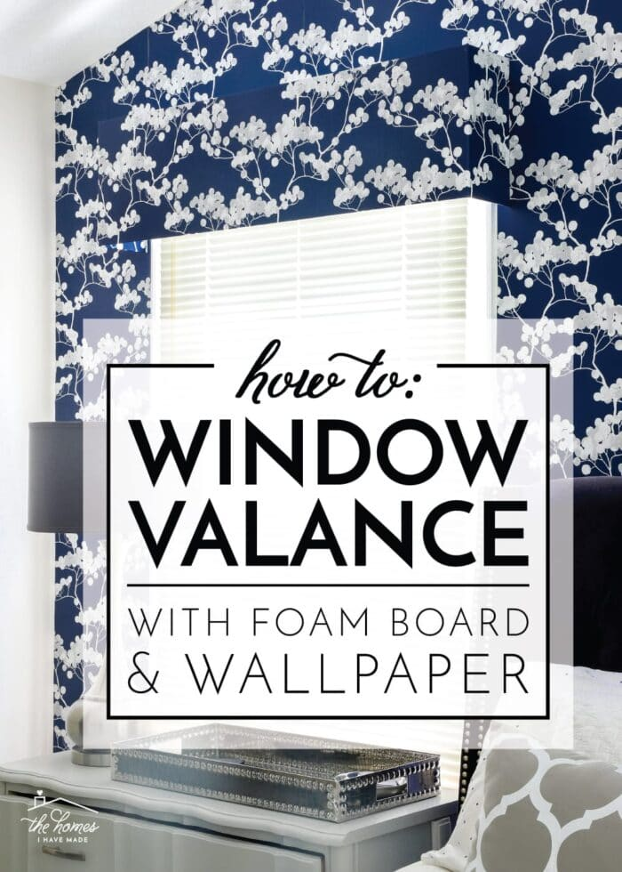 How to Make a Window Valance With Foam Board and Wallpaper