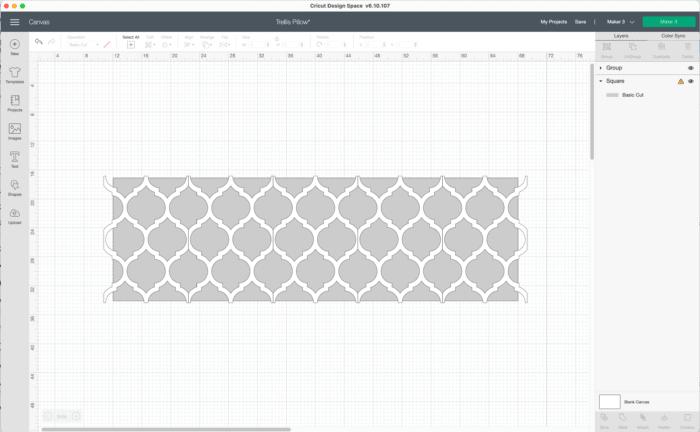 Custom Pillow Designs in Cricut Design Space