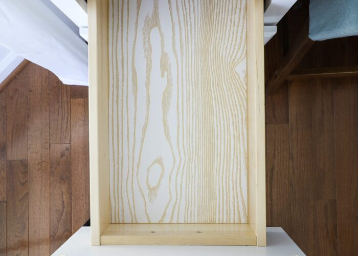 Empty desk drawer