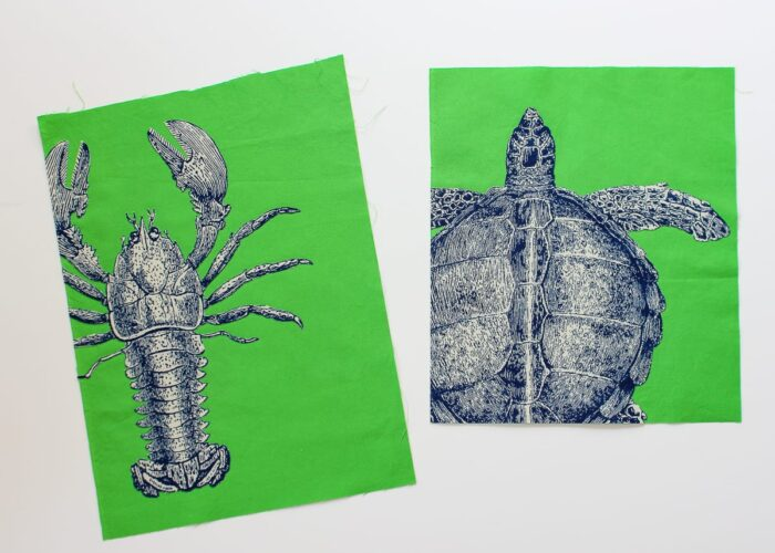 DIY Sea Life Pop Art on a green background