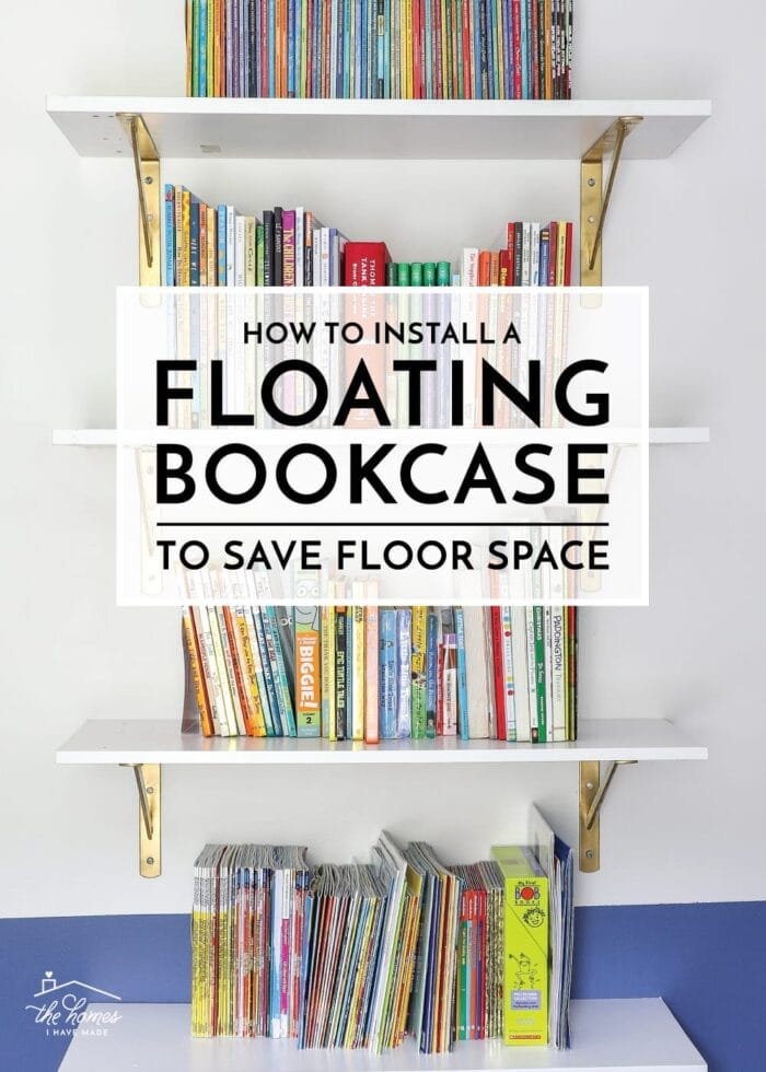 How to Install a Floating Bookcase (to Save Floor Space!)
