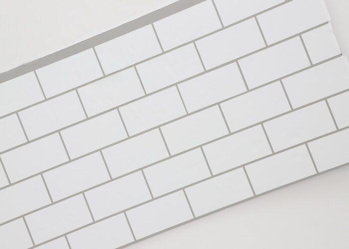 Subway tile vinyl backsplash