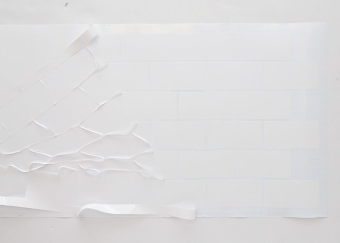 Subway tile pattern cut from white Smart Vinyl