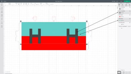 Monogram Mug design template in Cricut Design Space