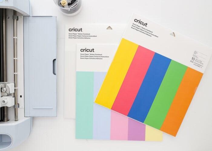 Cricut Smart Paper Sticker Cardstock in 3 colorways