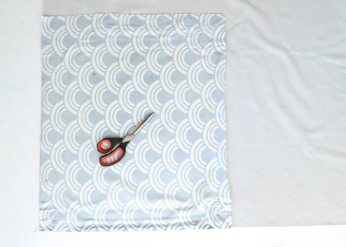 Fabric and scissors.