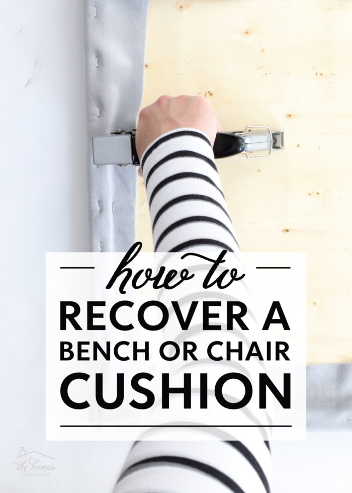 How to Recover a Bench or Chair Cushion