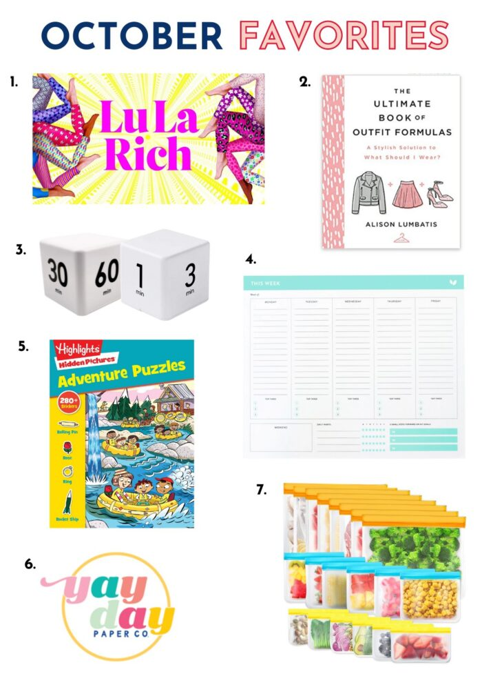 Collage of favorite products from Amazon and other shops.
