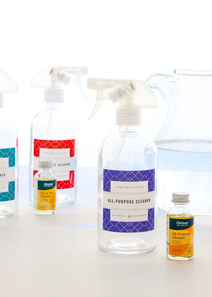 All-Purpose Cleaner Spray Bottle shown with Grove-brand concentrate.