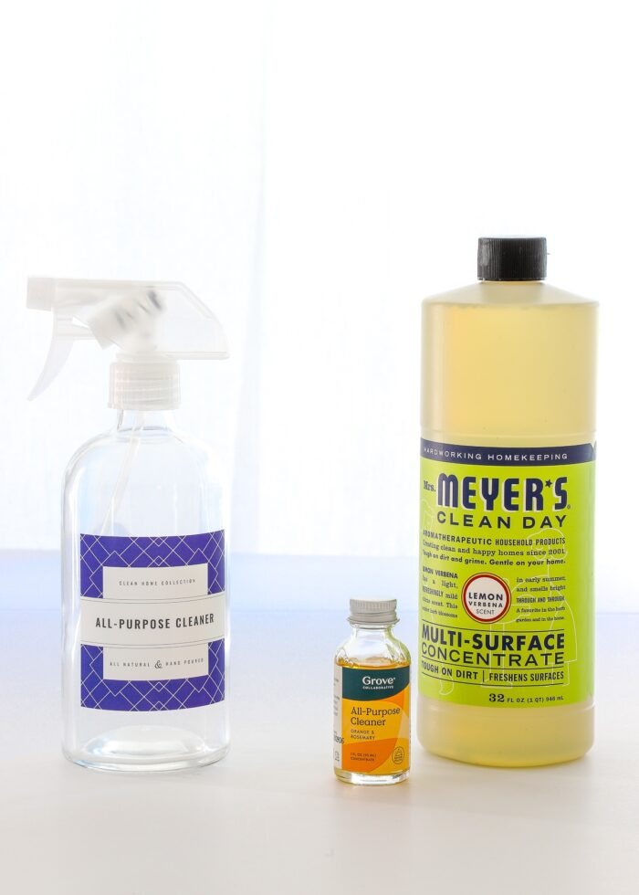 All-Purpose Cleaner Spray Bottle shown with Grove and Mrs. Meyer's concentrate.